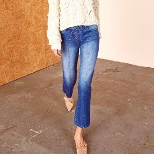 Ulla Johnson lace-up jeans